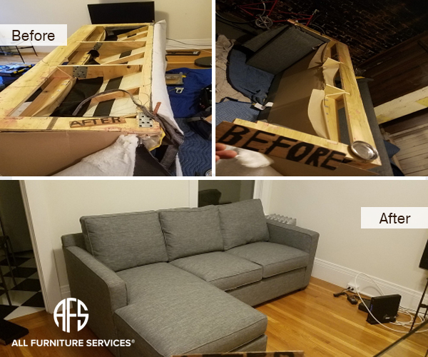 disassemble recliner sofa for moving